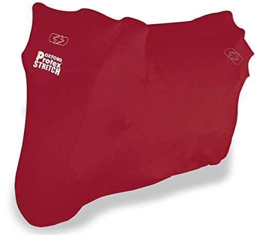 Oxford Products CV175 - Telo per moto da interni, rosso, misura M = lunghezza: 229 cm, larghezza: 99 cm, altezza: 125 cm