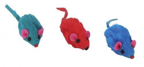Kerbl Farbige Fell Mäuse, 5cm
