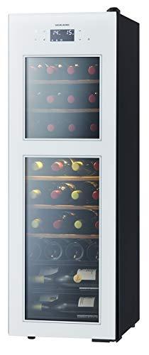 さくら製作所 ワインセラー ZERO Advance 38本収納 コンプレッサー式 2温度管理 ホワイト SA38-W