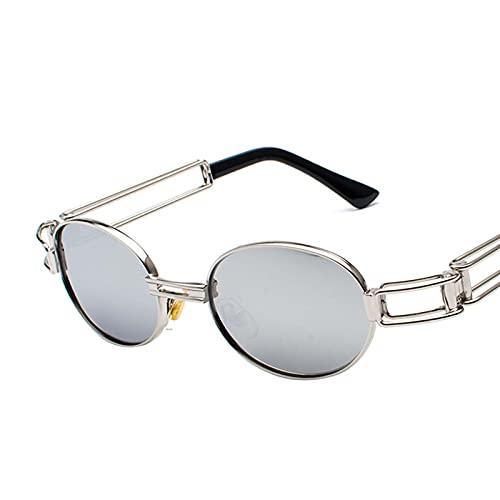 AMFG Lente de cristal clásico Retro redondo/Aviator/Marco de metal cuadrado Gafas de sol para hombres Mujeres, Protección UV400 (Color : M)
