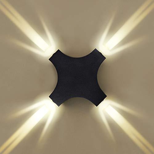 Maxmer 12W Apliques Creativo Moderno Lámpara de Pared Interior y Exterior Iluminación Decorativa Led IP65 Impermeable Aluminio, para Gimnasio Escalera Balcón KTV Color Cálido