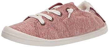 Roxy womens Bayshore Faux Fur Slip on Shoe Sneaker Rust 204 8 US