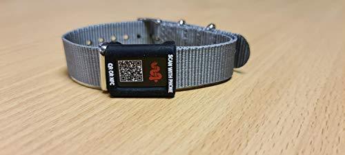 Tap2Tag Medical Smart Band Adapter, Grey/Black, 50 g