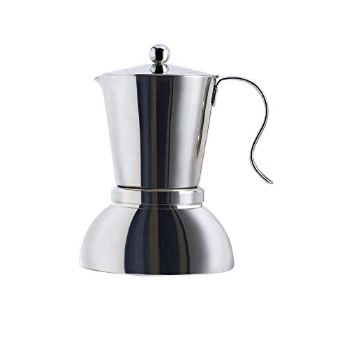 Début Stainless Steel Stovetop Espresso Maker - Italian Espresso Coffee Maker Greca Coffee Maker Moka Espresso Maker Moka Pot for 4 Cup / 6.7 Oz