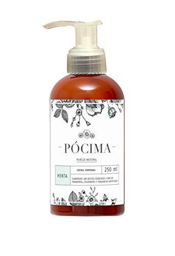 Pócima - Crema Corporal con aceite Esencial de Menta y Aloe Vera Orgánico 250 ml …