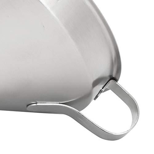 Embudo de aceite engrosado embudo líquido 1 juego para cocina para lavavajillas con filtro (304 embudo: 11 cm (sin logo))