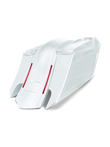 Best Price Harley Davidson 6 down and 9 out angle saddlebags and LED overlay fender kit dual cut o...