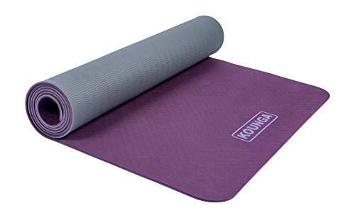 Kounga Yoga Mat ProLight 5- Colchoneta Esterilla de Yoga, Unisex Adulto, Morado/Gris, 183 x 61 cm