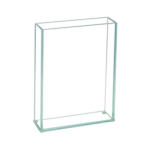 """Flower Glass Vase Decorative Centerpiece for Home or Wedding by Royal Imports - Flat Rectangle Plate Glass, 7"""" W x 10"""" H, Clear"""