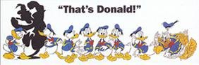 Buyartforless Poster, Motiv Disney Donald Duck, 62 x 21 cm