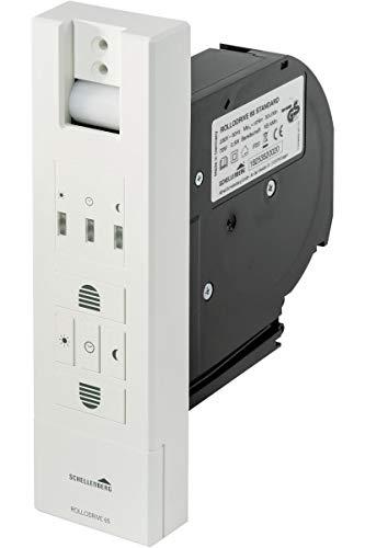 Schellenberg 22765 Elektrischer Gurtwickler Unterputz RolloDrive 65 Standard, Rolladenantrieb bis 6 m² Rollladenfläche,für 23 mm Rolladen-Gurt, Zugkraft max. 45 kg, mit Zeitautomatik, Netzstecker