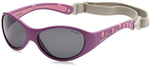 Polaroid P0401 Y2 0Q9 47 Gafas de sol, Rosa (Purple Rose/Grey Polarized), Unisex Niños