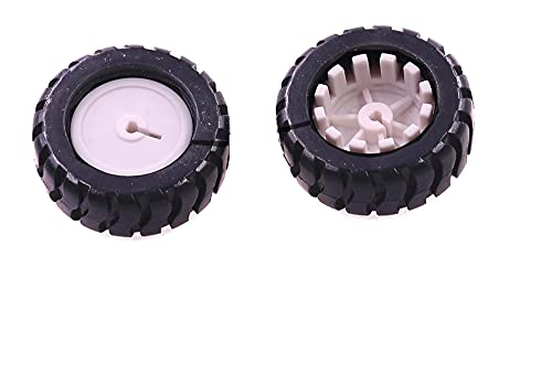MiaoMiao Ruedas de Goma Neumáticos Trye 43 * 19 * 3MM D-Hiole Shaft Wheel Fit para Robot Smart Car Platform DIY RC Toys Venta al por Mayor 50pcs Service
