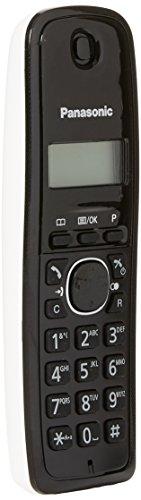 Panasonic KX-TG1611 - Teléfono (DECT, 50 entradas, Identificador de Llamadas) Color Negro, Blanco [Versión Importada]