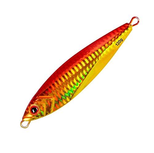 L-MEIQUN, 120 g 11 cm Impresión 3D Cebo Artificial con Cuchara de Jigging de Metal para Pescar Cebo de Jigging en Barco de Pesca de mar (Color : F)