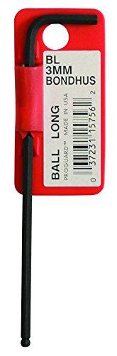 Starrett 15756 Cles coudees longues a boule metrique avec code barres, Rouge