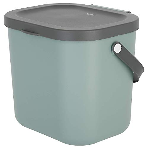 Clas Ohlson  Indoor Recycling Bin With Handles - Made Of Recycled PP Plastic, Compost Bin, Food Caddy (green, 6l)