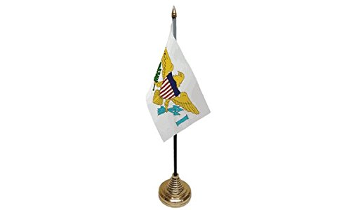 United drapeaux U. S. des îles Vierges Drapeau de table