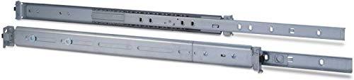 Inter Tech 88887220 Teleskopschienensatz mit Variabler Einbautiefe von 500-800 mm Silber