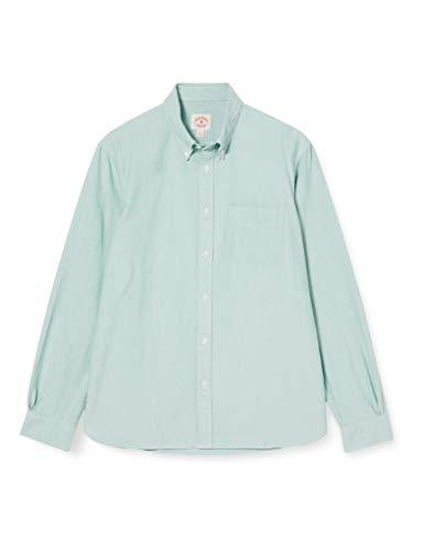 Brooks Brothers Oxford Solids Camicia, Verde, 42 (Taglia Produttore:L) Uomo