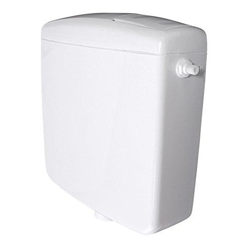 Spülkasten für WC Toiletten Weiß 6-9 Liter Spartaste Aufputz Aufputzspülkasten Spül Start Stop Funktion