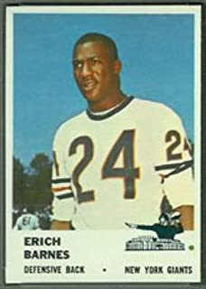 1961 Fleer Regular (Football) card#73 Erich Barnes of the New York Giants Grade Very Good