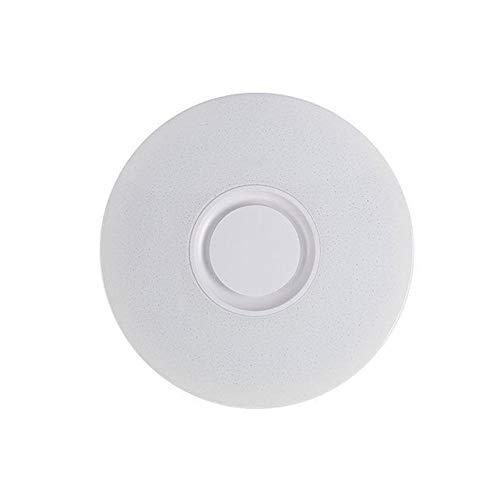 Plafón LED redondo de música, plafón LED con altavoz Bluetooth, plafón de sala de estar de dormitorio blanco puro, luz regulable blanca