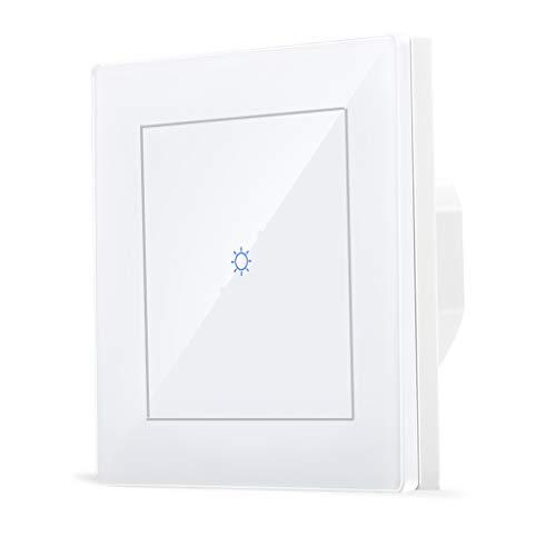 Smart zigbee 1 Interruptor de luz de grupo en la pared para Echo Plus Compatible Zigbee Bridge Hub para luces normales con control de control de voz de Alexa Asistente de Google