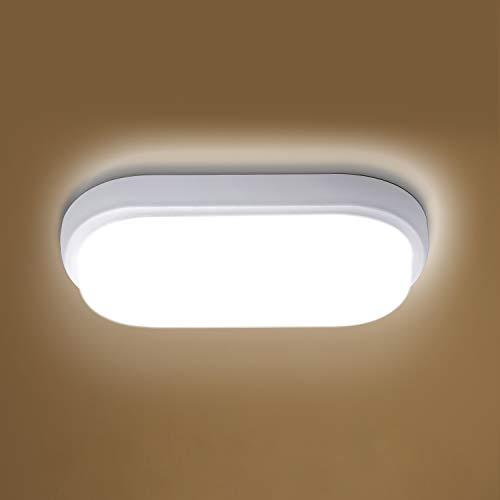 LED Deckenleuchte Badlampe 12W, Oeegoo IP54 Wasserfest Deckenlampe, 960lm Flimmerfreie Feuchtraumleuchte Wandleuchte für Bad Kinderzimmer Schlafzimmer Balkon WC hauswirtschaftsraum Treppenhaus, 4000K