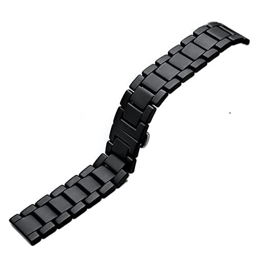 ZXF Correa Reloj, Reloj Watch Watch Smart Ceramic Watch Strap Sand Blastted Three Ceramic Strap 20mm 22mm Pulsera (Color : Full Sand, Size : 22mm)
