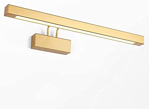 110V-220V LED Lampato per armadietto a specchio regolabile, lampada da trucco Vanity Specchio a specchio leggero Lampada da parete Light Light Gold Metal Finish per tavolino-cool bianco 53 cm (21 poll