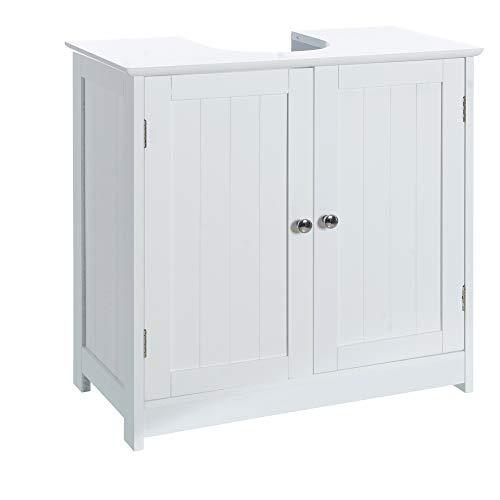 Casa Selección Armario bajo Lavabo Minimalista Blanco de Madera para Cuarto de baño Vitta, 60 X 30 X 60 CM