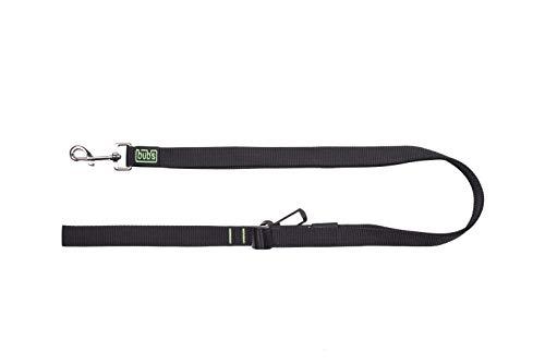 Bub's Duo hondenriem, 2-in-1, met veiligheidsgordel voor de auto (25 mm breed en 1 m tot 1,6 m lang), Blanco Y Gris