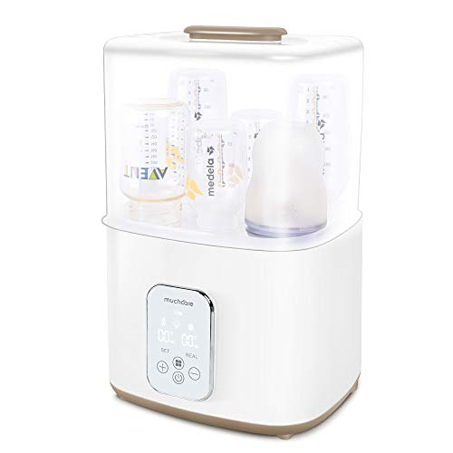 Bottle Sterilizer, Baby Bottle Warmer Combination, Muchcare Bottle Sanitizer with Drying Feature, Large Capacity and Easy to Operate