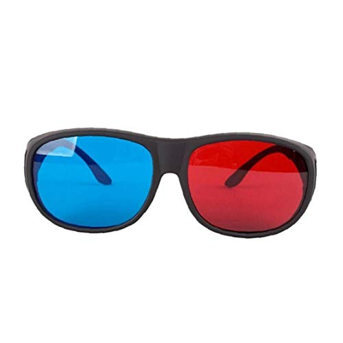 Red-Blue 3D Glasses Cyan Anaglyph Simple Style 3D Glasses Stereo Movie Game-Extra Upgrade Style for Men Women