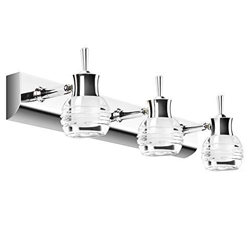 Lightess 14W Spiegelleuchte LED Bad 360°Drehbar 45cm SpiegellampeKaltweiss Wandmontage IP44 Schranklampe Spiegelschrank Leuchte Badlampe für Spiegel Badzimmer Schrank usw.