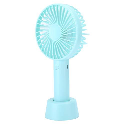 【 â】 Ventilateur à main, mini ventilateur léger, avec une base, pour table de chevet(green)