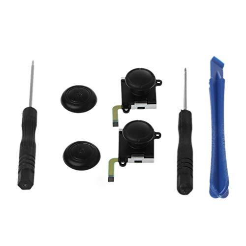 Junlinto, 3D Analoge Joystick Schakelaar Duim Stick Controller Module Sensor Potentiometer Reparatie Gereedschap Vervanging Zwart voor Nintend Schakelaar