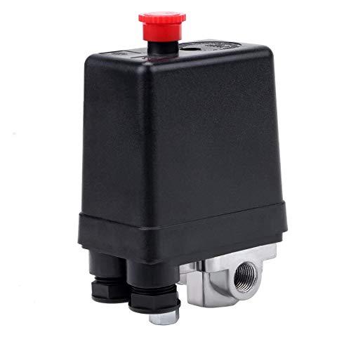 Control Interruptor Presión Compresor Aire Valvula De Control De Compresor De Aire Compresor Aire Válvula Reguladora Presión Trifásico 4 Orificios G1 / 4'220V 125Psi Para Regulador Compresor Aire