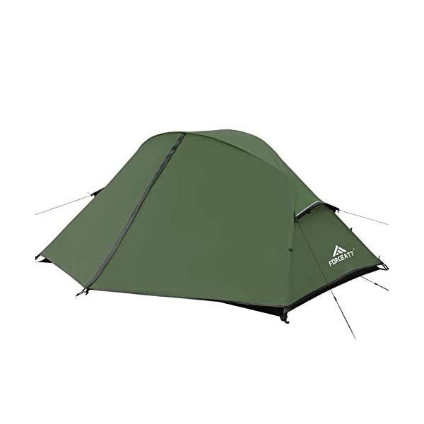 Forceatt-Tent-for-Camping2-and-3-Person-Lightweight-Backpacking-TentHiking-Tent-for-4-Seasons-Double-DoorsPU3000-5000-WaterproofWindproof-and-Easy-to-Set-Up-Camping-Tent-3-4-Color-and-2-Size