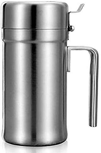 JSMY Edelstahlölflasche Gewürzflaschen Olivenöl Speiseölausgabebehälter zum Kochen/Restaurant/Grillen