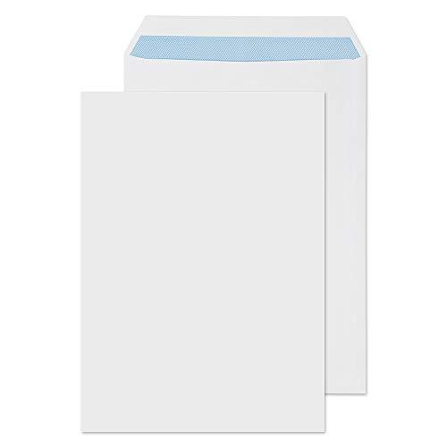 Purely Everyday - Buste formato C4, chiusura adesiva, 100 gmq, 324 x 229 mm, confezione da 250 pezzi, colore: bianco