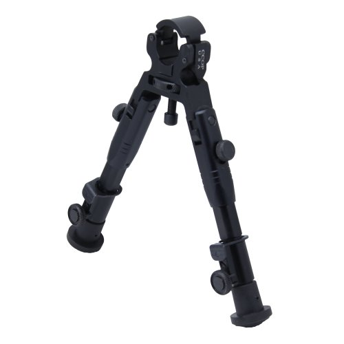 CCOP Universal Barrel Clamp-On Mount Adjustable Tactical Rifle Bipod, Small