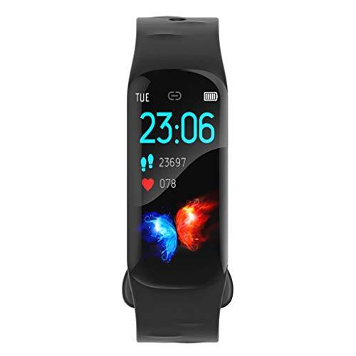 Fitness Tracker,Smartwatch Wasserdicht H29 Fitness Armband mit Pulsmesser Farbbildschirm Aktivitätstracker Pulsuhren Schrittzähler Uhr Smart Watch Fitness Uhr Sportarten für Frauen, Kinder, Männer