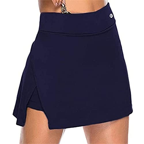 N\P Falda de tenis de cintura alta atlética correr gimnasio deporte Skorts fitness