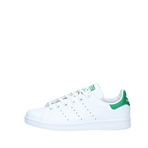 Adidas Stan Smith, Unisex-Kinder Sneakers, Weiß (Ftwr White/Ftwr White/Green), 38 2/3 EU