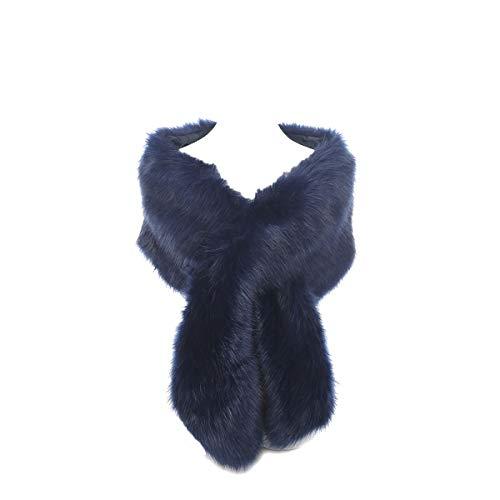 Hotstylezone - Bufanda - mujer Azul azul marino 90