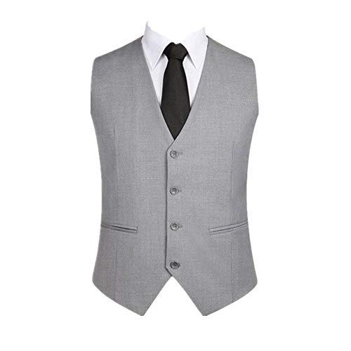 Herren-Weste, einfarbig, ärmellos, mit Trägern, einfarbig Gr. XL, grau