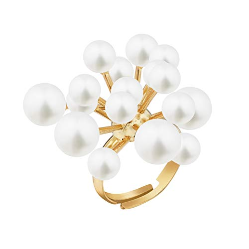 Sincera Hermoso anillo de mujer para mujeres y niñas con perlas tamaño libre