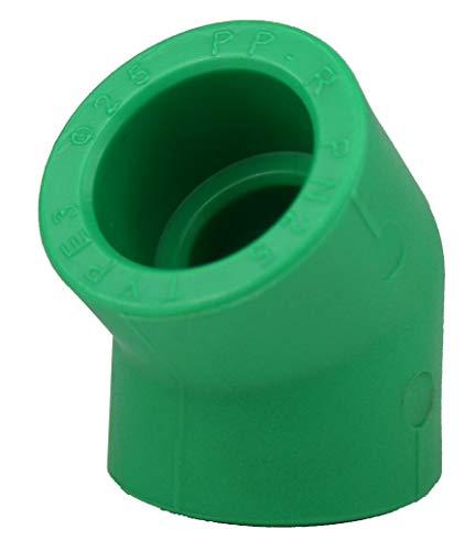 5 x PPR Aqua Plus 45° Winkel mit 25mm Durchmesser, Fusiotherm